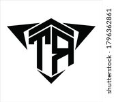 tr logo monogram with wings...   Shutterstock .eps vector #1796362861