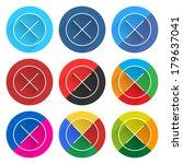 circle web button on white...