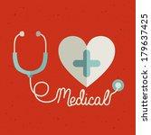medical design over  background ... | Shutterstock .eps vector #179637425