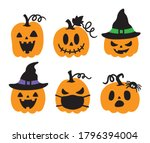 vector illustration of jack o... | Shutterstock .eps vector #1796394004