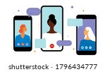 phone call conference....   Shutterstock .eps vector #1796434777