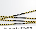 caution line. do not cross.... | Shutterstock .eps vector #179647277