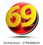 3d Illustration Golden Number...