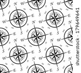 black and white vintage compass ... | Shutterstock .eps vector #179649641