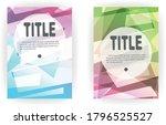 template poster set of business ...   Shutterstock .eps vector #1796525527