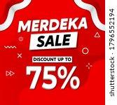 merdeka sale  independence sale ... | Shutterstock .eps vector #1796552194