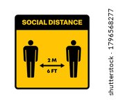 high quality social distance... | Shutterstock . vector #1796568277