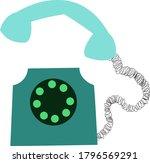 green phone  simple flat...