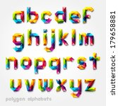 polygon alphabet colorful font... | Shutterstock .eps vector #179658881