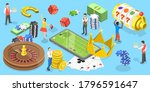 3d isometric flat vector... | Shutterstock .eps vector #1796591647