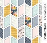 seamless pattern  patchwork... | Shutterstock .eps vector #1796600611