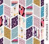 seamless pattern  patchwork... | Shutterstock .eps vector #1796600614