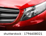 red car. front view of a new... | Shutterstock . vector #1796608021