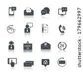 contact us service icons set of ... | Shutterstock .eps vector #179662997