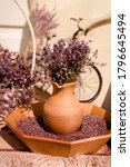Lavender In A Beautiful Vessel. ...