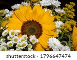 Bouquet Of Summer Flowers With...