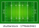 flat green rugby field. top... | Shutterstock .eps vector #1796663461