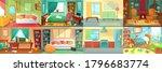 room interior. bedroom  living... | Shutterstock .eps vector #1796683774