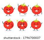collection of cute tomato... | Shutterstock .eps vector #1796700037