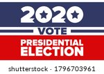 presidential election 2020 in... | Shutterstock .eps vector #1796703961