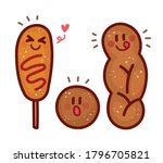 twisted sweet rice bread ... | Shutterstock .eps vector #1796705821