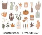 vector set of autumn...   Shutterstock .eps vector #1796731267