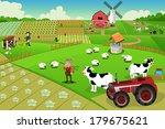 A Vector Illustration Of Farm...