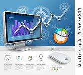 3d infographics web design... | Shutterstock .eps vector #179676311