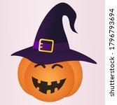 Paper Cut Pumpkin Wearing Hat...