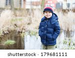 portrait of cute caucasian... | Shutterstock . vector #179681111