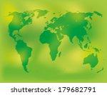 vector. world map.  | Shutterstock .eps vector #179682791