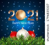 2021 happy new year holiday... | Shutterstock .eps vector #1796835337