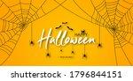 happy halloween banner or party ... | Shutterstock .eps vector #1796844151