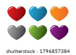 set of colorful heart designs ... | Shutterstock .eps vector #1796857384