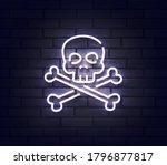 skull neon sign. sign of skull... | Shutterstock .eps vector #1796877817