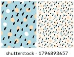 simple dotted vector seamless... | Shutterstock .eps vector #1796893657