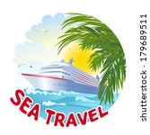 icon with the ship and the sea. ... | Shutterstock .eps vector #179689511