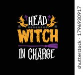 head witch in charge   ... | Shutterstock .eps vector #1796930917