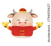happy chinese new year 2021.... | Shutterstock .eps vector #1796935627
