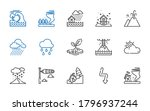 Storm Icons Set. Collection Of...
