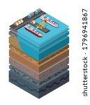 soil layers cross section... | Shutterstock .eps vector #1796941867