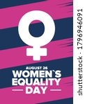 women's equality day in united... | Shutterstock .eps vector #1796946091