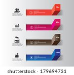 abstract infographics number | Shutterstock .eps vector #179694731