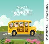 Back To School Concept. Cartoo...
