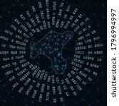 Salt Island Digital Map. Binar...