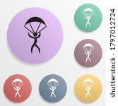 skydiver badge color set icon....