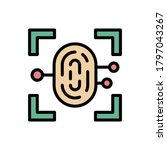 fingerprint cyber attack icon....