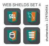 vector collection of mysql web... | Shutterstock .eps vector #179704541
