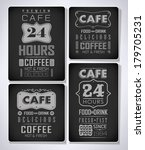 set of coffee  cafe label set... | Shutterstock . vector #179705231