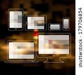 flat style responsive webdesign ... | Shutterstock .eps vector #179706854